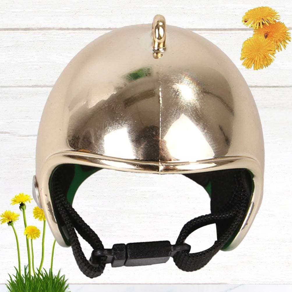 Balacoo Chicken Helmet Pet Hat Funny Pet Protective Gear Sun Rain Headgear Toy Costumes Accessories for Bird Hens Pet Supplies (Flame)