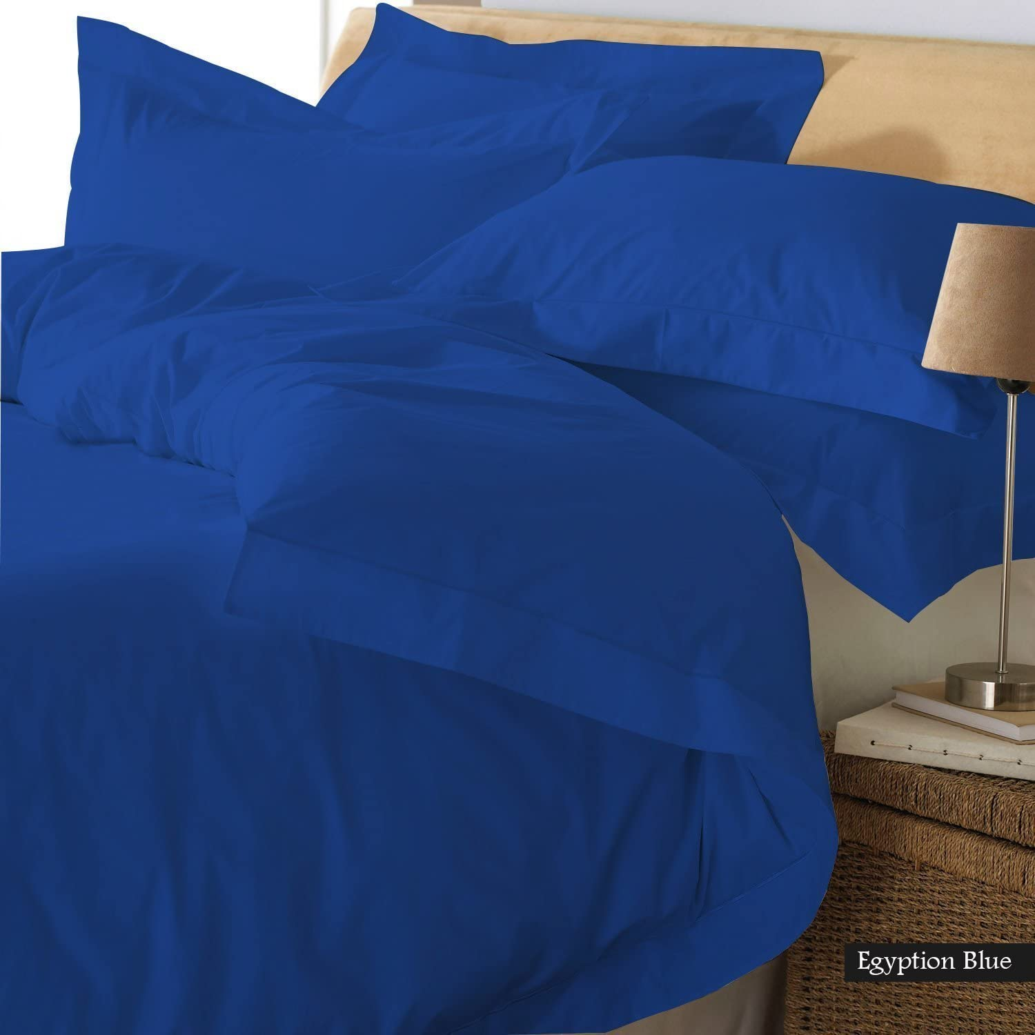Reliable Bedding Ultra Soft Luxury Solid Duvet Cover, 300 Thread Count, 100% Organic Cotton Bedding Cover !!! (Twin/Royal Blue)