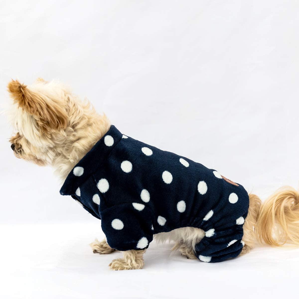 Collaroy Polka Dot Fleece Dog Pajamas