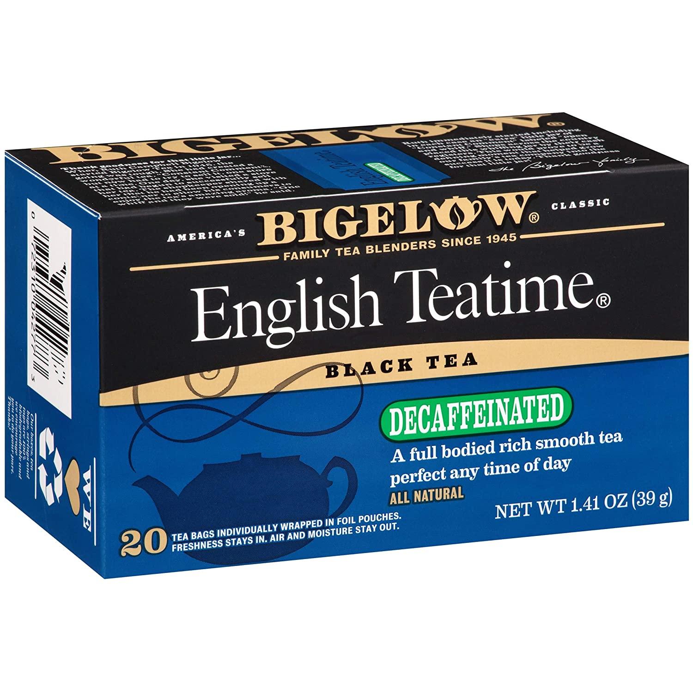 Bigelow Decaffeinated English Teatime Tea, Black Tea, 20 Count (Pack of 6), 120 Tea Bags Total