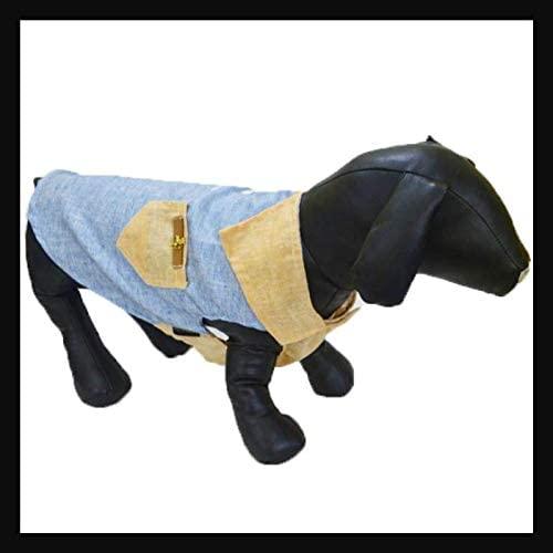 Zap Impex Pet Shirt, Dog Clothes Puppy Classic Linen Shirt Pets Apparel