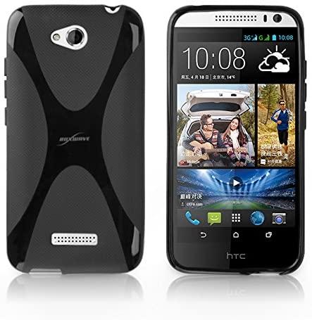 HTC Desire 616 Case, BoxWave [Bodysuit] Premium Textured TPU Rubber Gel Skin Case for HTC Desire 616 - Jet Black