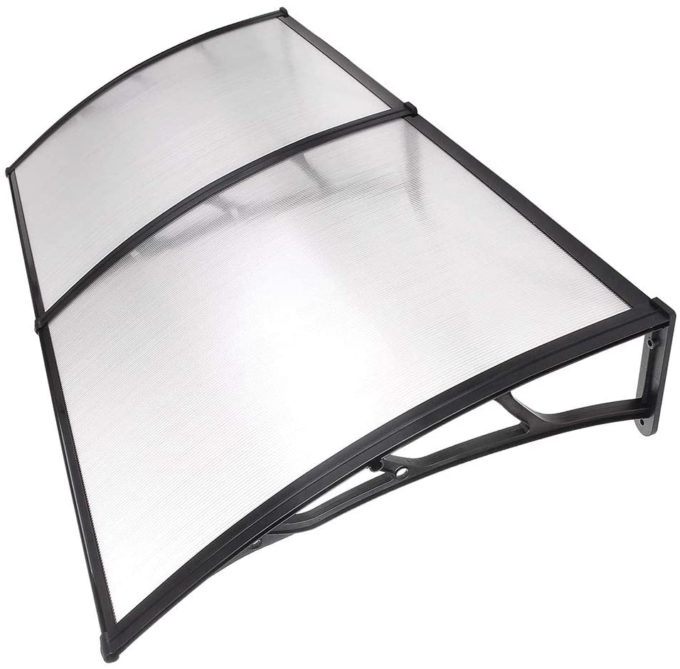 Instahibit 79x40 Window Awning Front Door Cover UV Rain Snow Protection Outdoor Patio Shutter 2 Whole Hollow Sheets