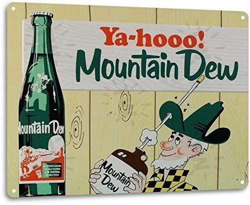 SRongmao Mountain Dew Soda Pop Store Advertising Vintage Look Retro Wall Decor Metal Tin Sign 8x12in