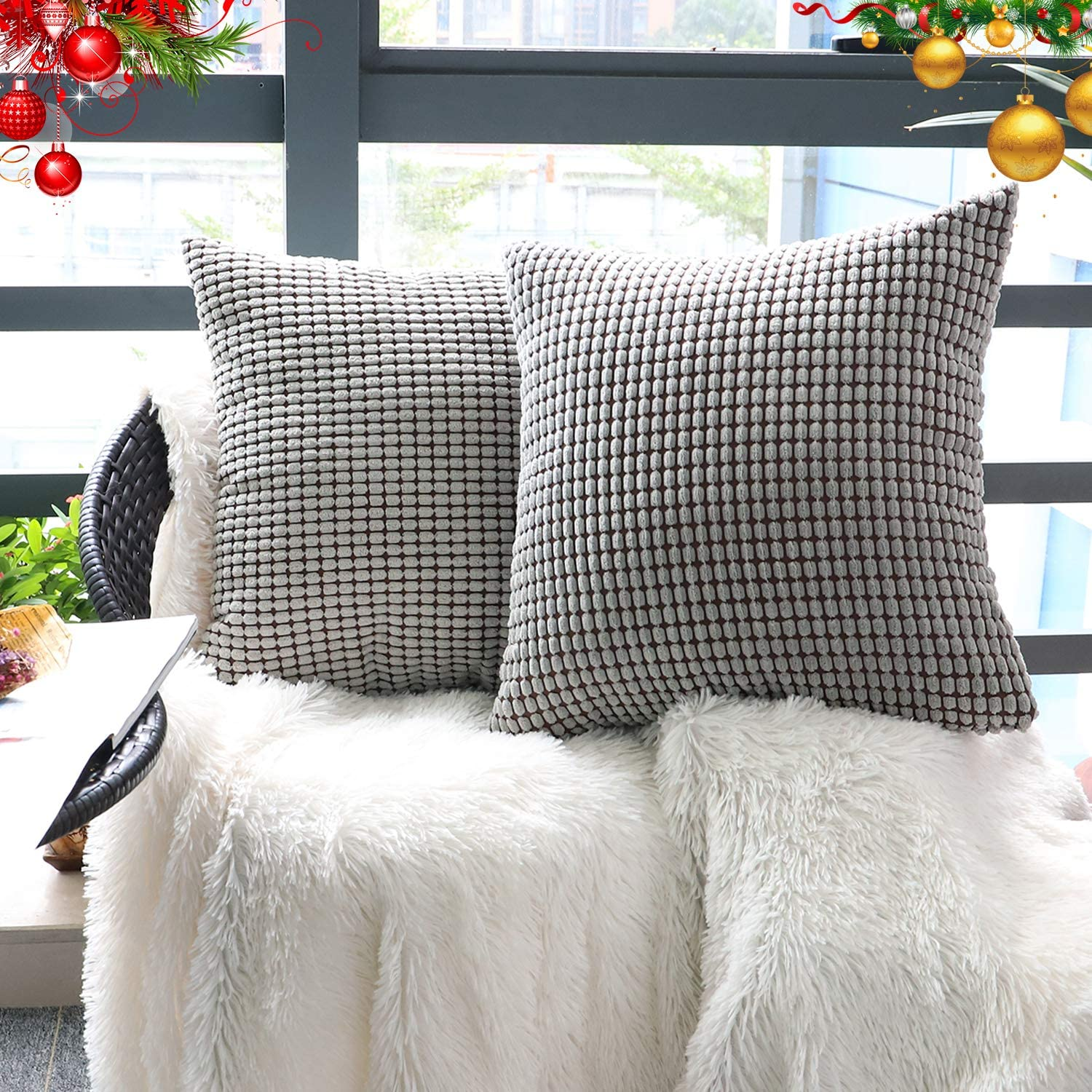 Set of 2,Decorative Throw Pillow Covers 16