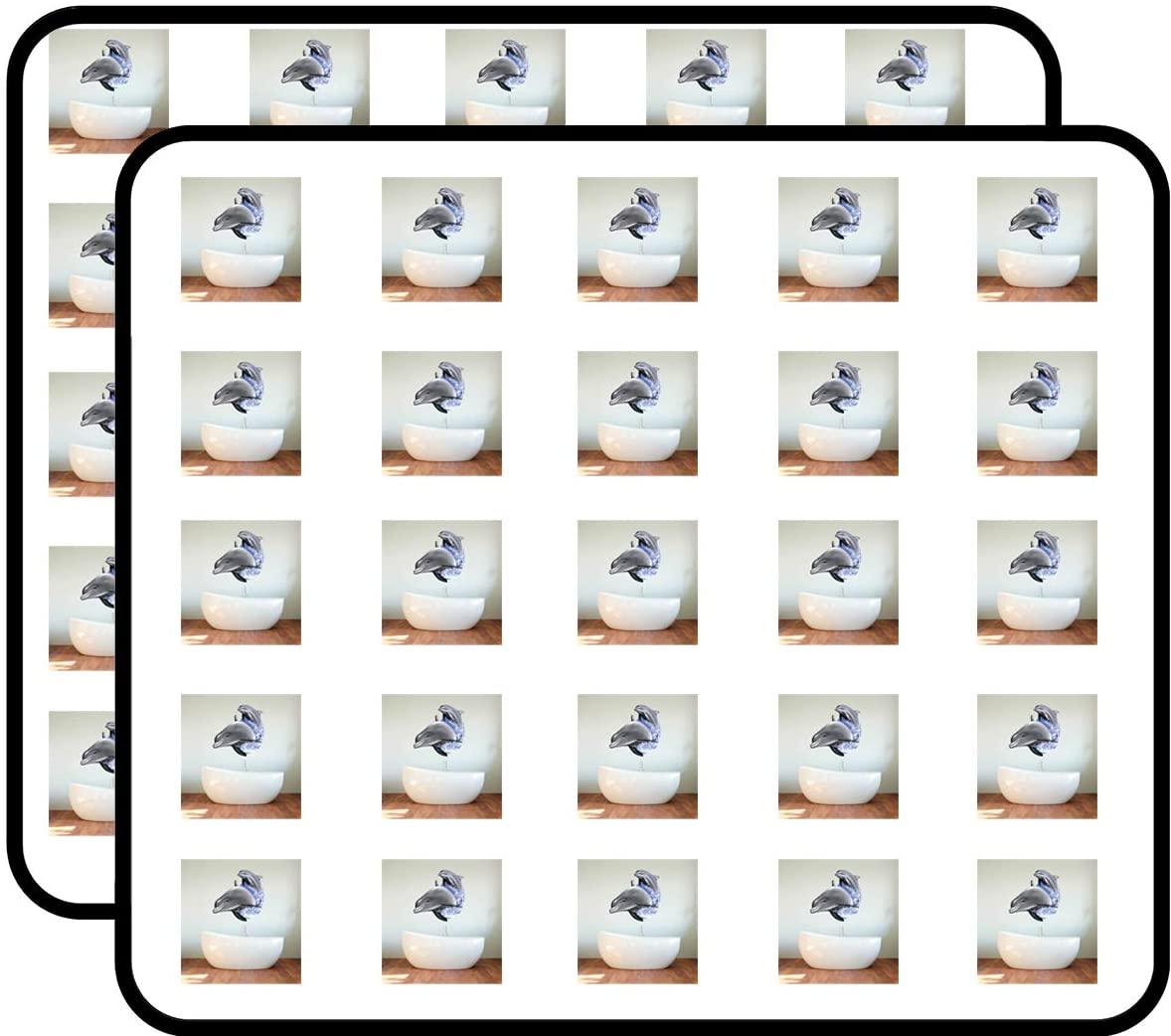 Beautiful Dolphins Ocean Theme Sticker for Scrapbooking, Calendars, Arts, Kids DIY Crafts, Album, Bullet Journals 50 Pack