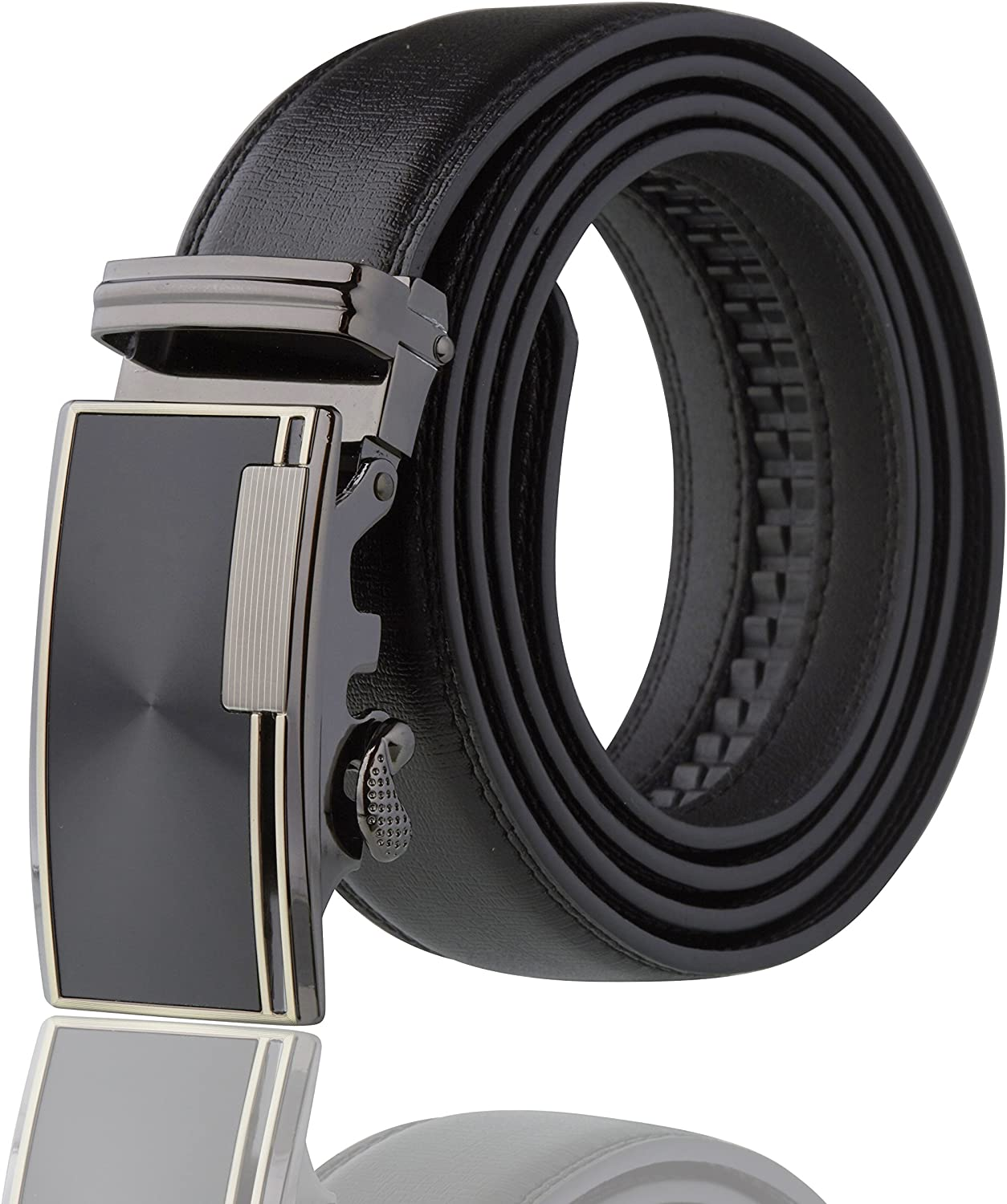 Imperial Men's Ratchet Leather Dress Belt With Gift Box