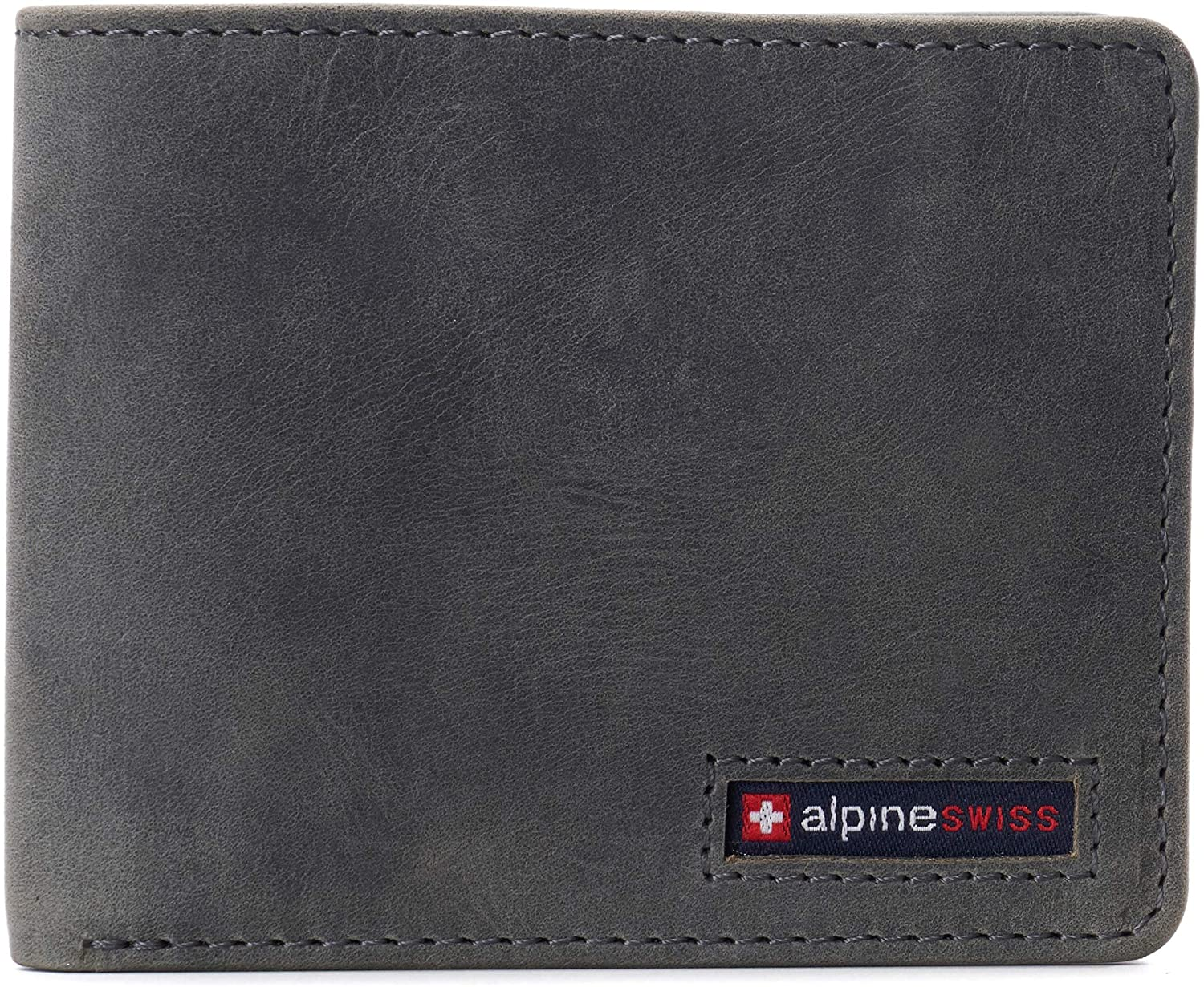 Alpine Swiss Mens RFID Safe Wallet Bifold Passcase Cowhide Leather Billfold Comes in Gift Box