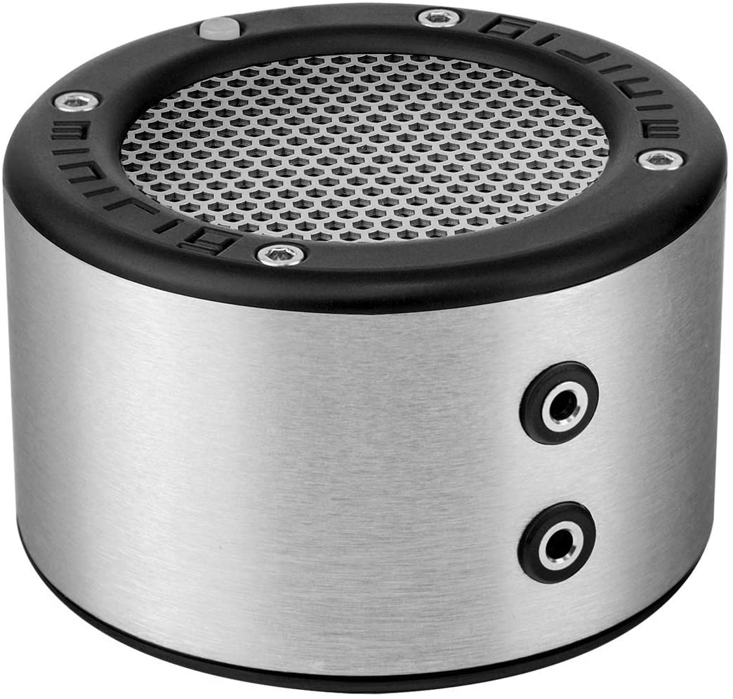MINIRIG Mini Portable Rechargeable Bluetooth Speaker - 30 Hour Battery - Premium Stereo Sound - Silver