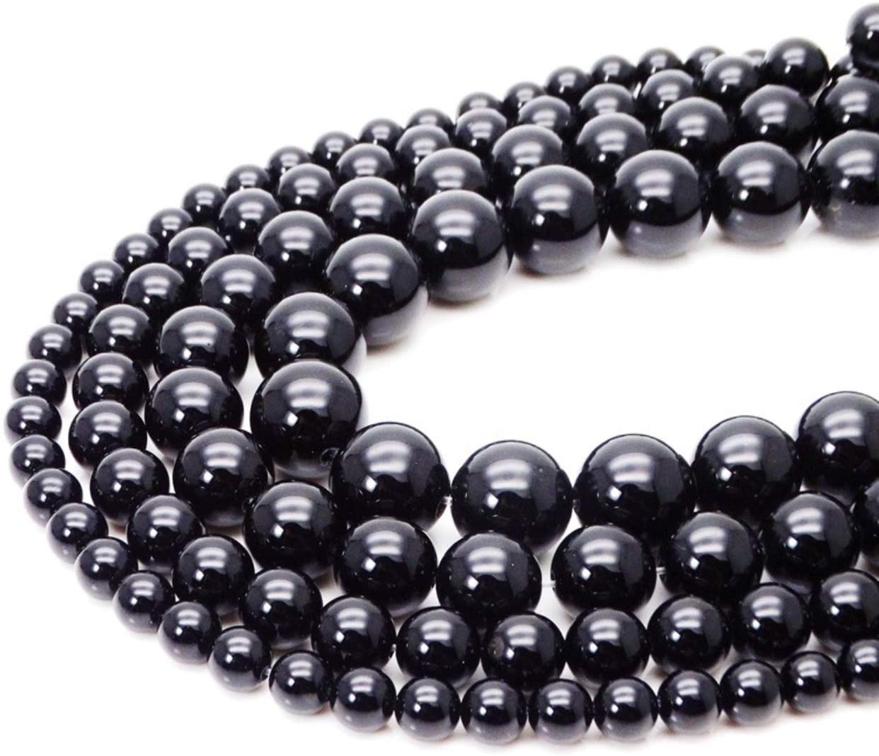 [ABCgems] Russian-Karelian Shungite AKA Type-III Regular Shungite (Guaranteed Electrical Conductivity-Mohs Hardness 4) 4mm Smooth Round Gemstone Healing Energy Beads (Occasionally Pyrite Inclusion)