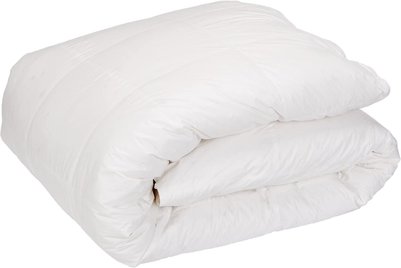 Downright Cascada Summit Luxury White Goose Down Comforter – 600 Fill Power – 100% Cotton 300 Thread Count – 42oz Summer Weight – 100% Hypoallergenic, SUP Queen 110