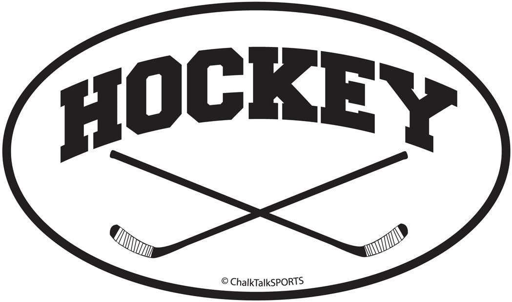 ChalkTalkSPORTS Hockey Car Magnet | Crossed Sticks | Black