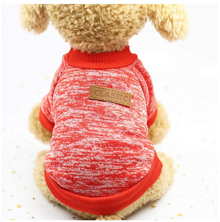 aibushishou Pet Dog Classic Knitwear Sweater Pet Small Dogs Warm Winter Puppy Shirt Soft Clothing