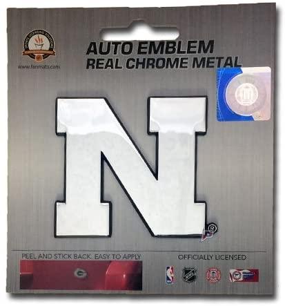 Patch Collection Nebraska Cornhuskers Premium Solid Metal Chrome Plated Car Auto Emblem