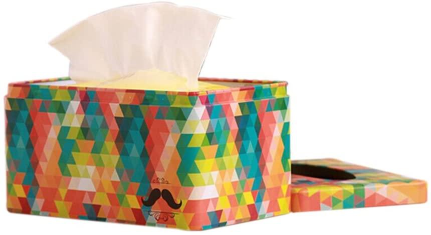 Black Temptation Lovely Stoving Varnish Iron Colorful Tissue Holder Tissue Box Cover