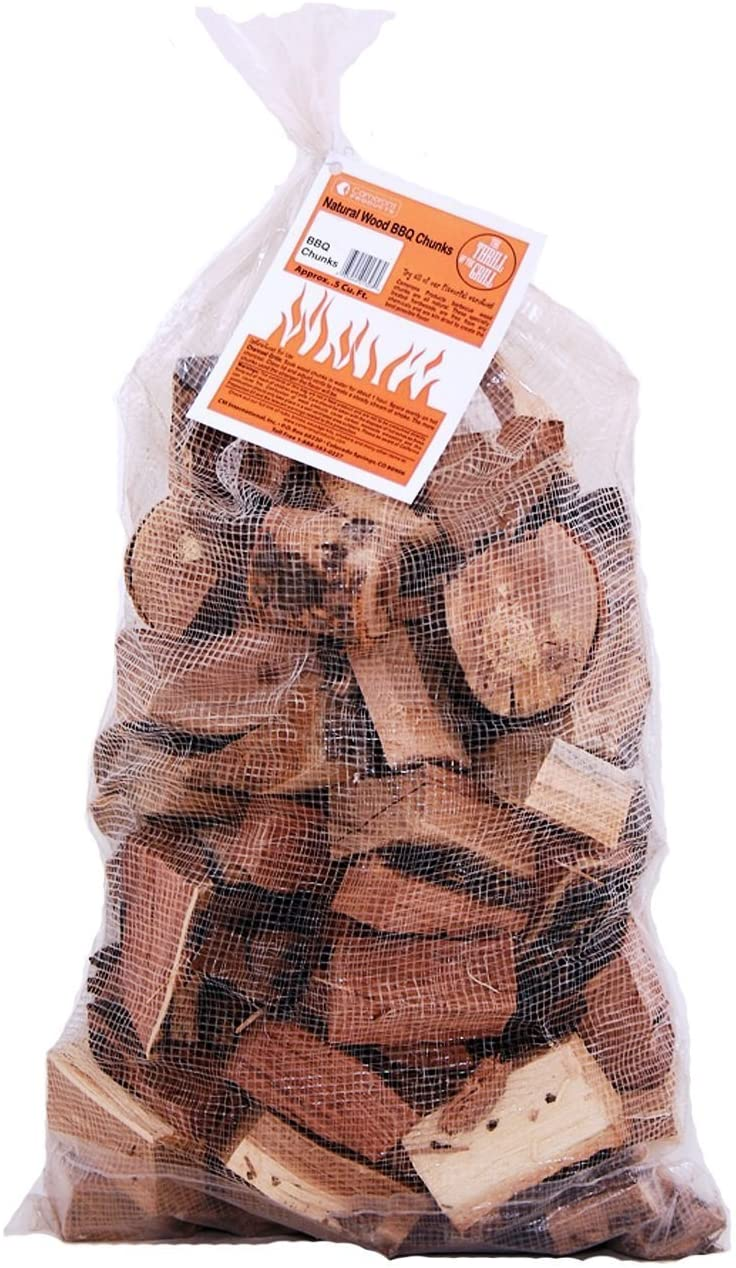 Camerons Products Smoking Wood Chunks (Oak) 840 cu. in. (0.013m³)- Kiln Dried BBQ Large Cut Chips- All Natural Barbecue Smoker Chunks- 10 Pound Bag (May Receive in Bag or Box)
