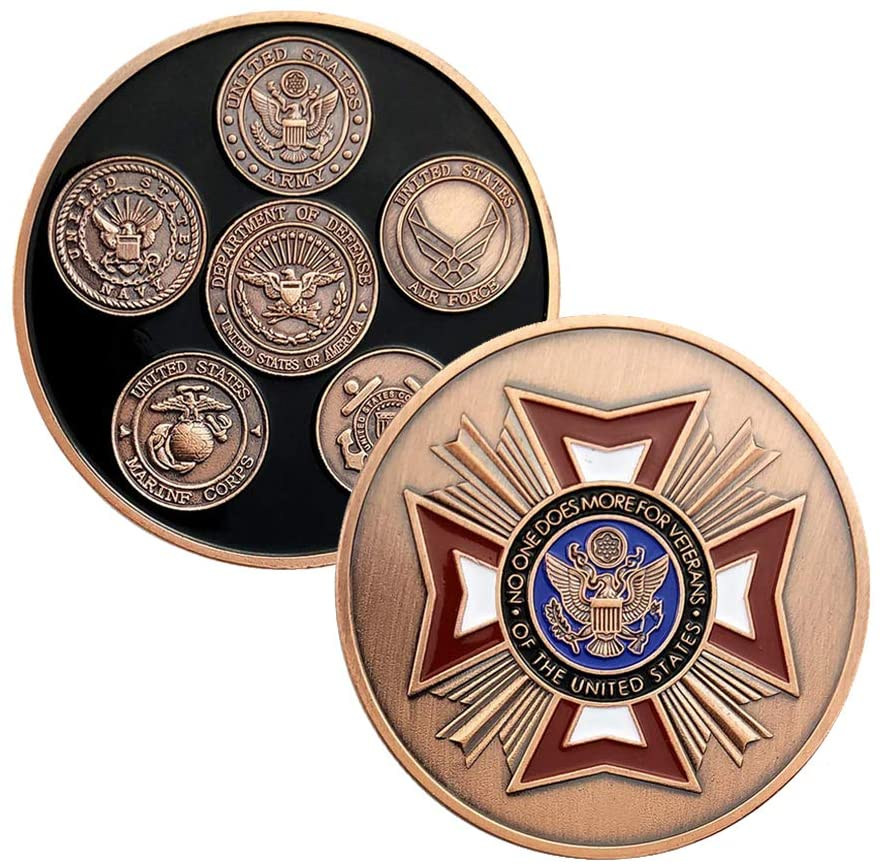 U.S. Proud Military Family Challenge Coin Veteran Army Navy Air Force Commemorative Coin Marine Corps Coast Guard Armed Forces Collection Item