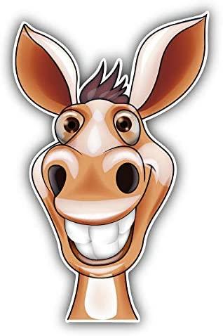 KW Vinyl Magnet Funny Donkey Head Mascot Truck Car Magnet Bumper Sticker Magnetic 5