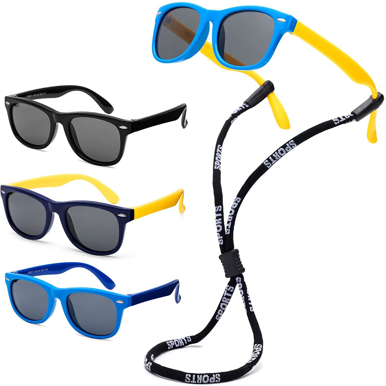 SLTY Children's Polarizer Silica gel Kids Polarized Sunglasses with Adjustable Lens Strap for Boys Girls Baby & Children