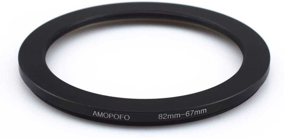 82mm to 67mm /82mm-67mm Step-Down Ring Filter Adapter for All Brands UV,ND,CPL,Metal Step-Down Ring Adapter