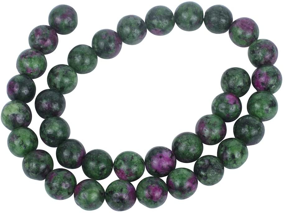 PH PandaHall 245pcs 8mm Natural Gemstone Loose Beads Natural Round Beads for Bracelet Necklace Jewelry Making - Red & Green