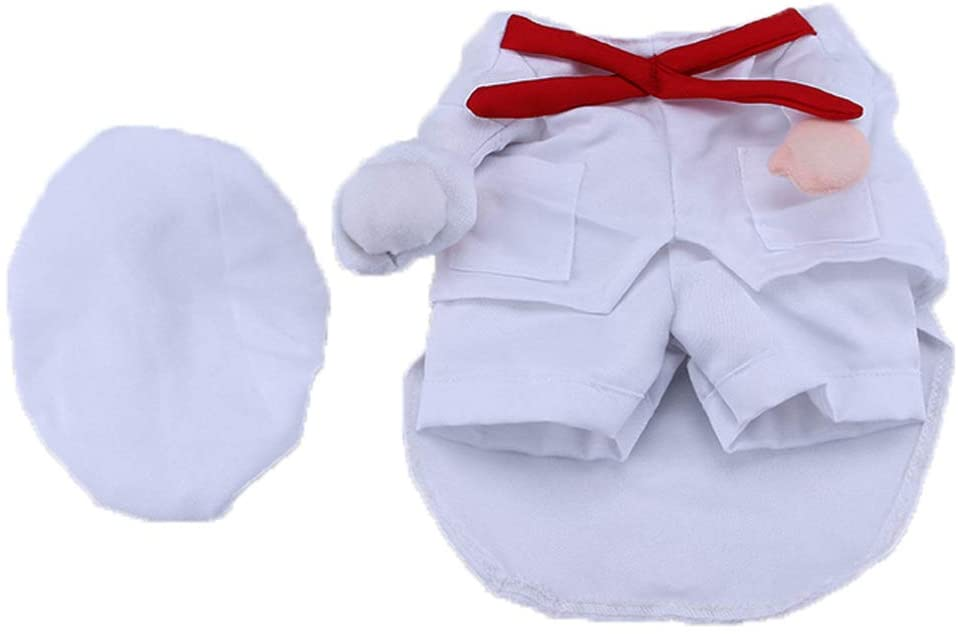 POPETPOP Dog Chef Costume-Dog Halloween Costumes for Small Medium Dogs Cats-Funny Chef Costume for Pet Halloween Party-Size S