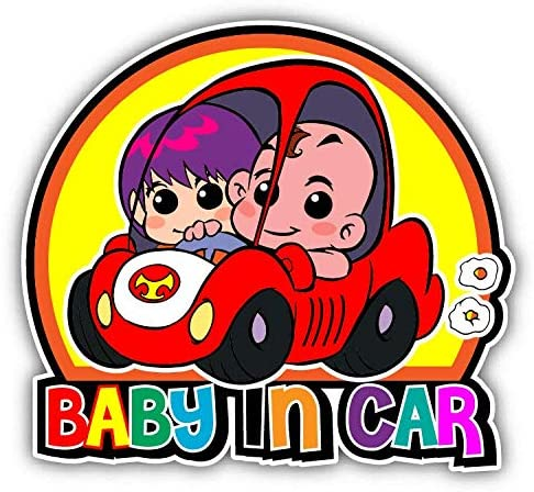 Baby in Car Funny Cartoon Warning Sign Window Truck Car Bumper Sticker Decal 5
