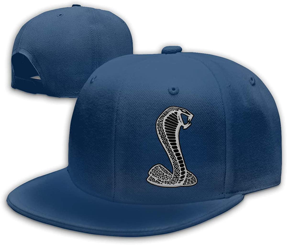 FOECBIR Snake Snapback Flat Baseball Cap Men's Adjustable