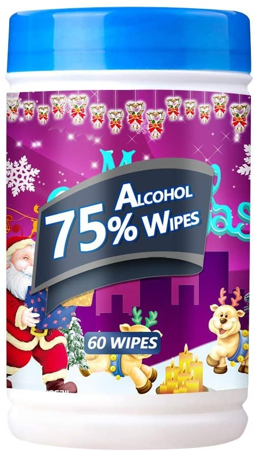【Shipping from US】𝐆𝐋𝐎𝐑𝐎𝐗_𝐖𝐈𝐏𝐄𝐒, 60 Tablets Christmas 𝐃isinfectiing_Wipes Portable cleaning_Wipes Han𝐃_Wipes Box(E,60 Sheets 1 PC)
