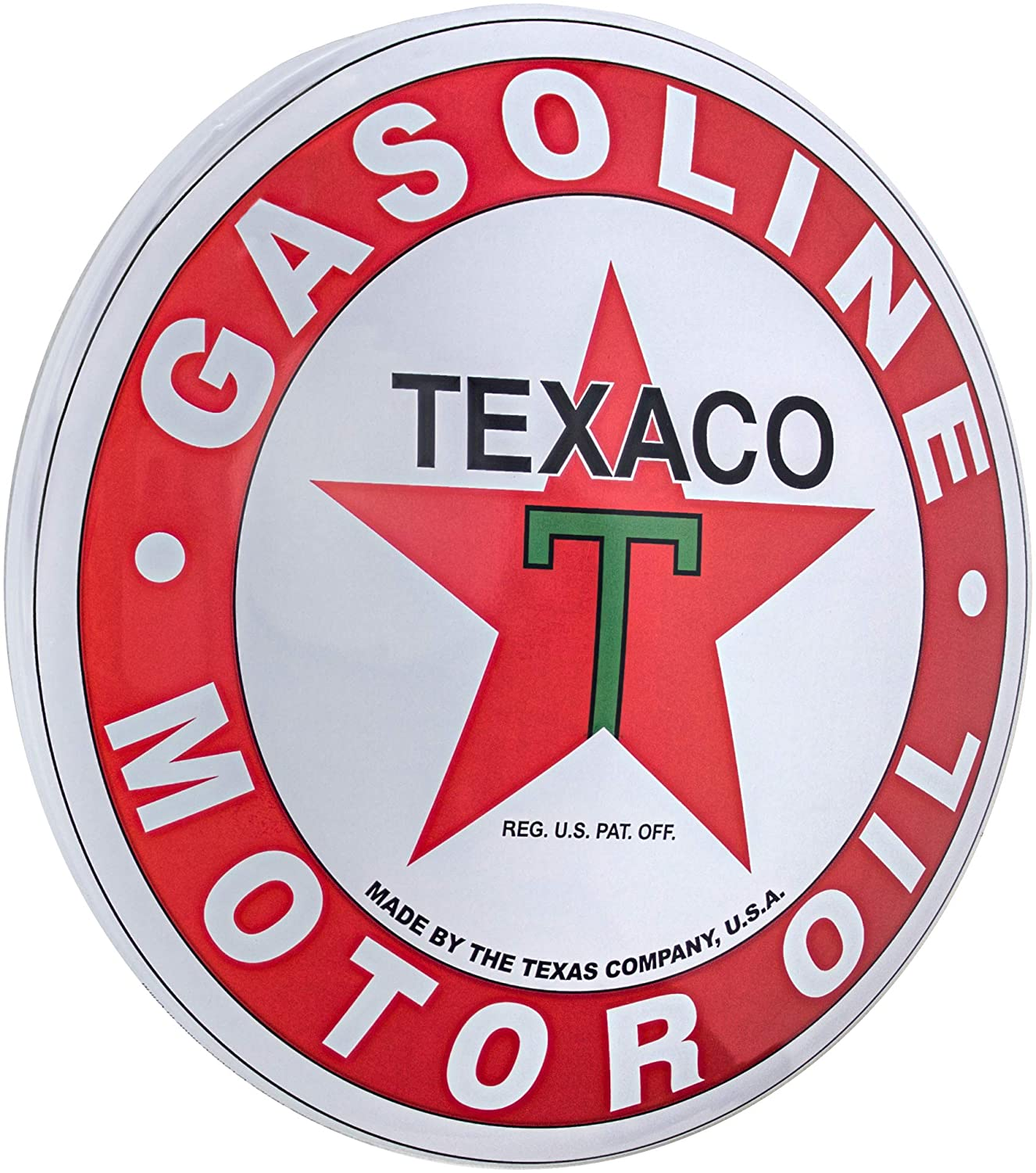 Officially Licensed Texaco Dome Shaped Metal Sign Wall Decor for Bar, Garage or Man Cave (15