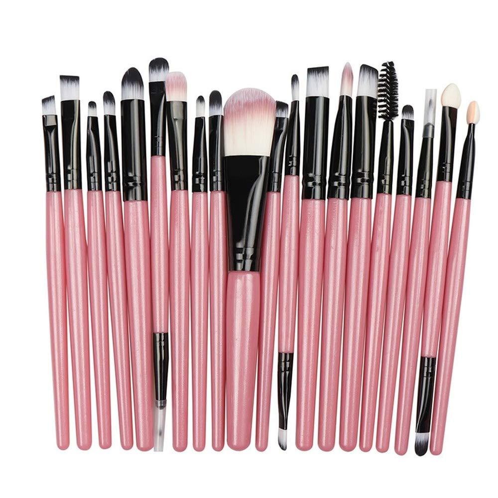 Makeup Brushes Set, Eye Shadow, Foundation Powder Eyeliner Eyelash Lip Make Up Brush, Cosmetic Beauty Tool Kit Hot (20Pcs-FH)