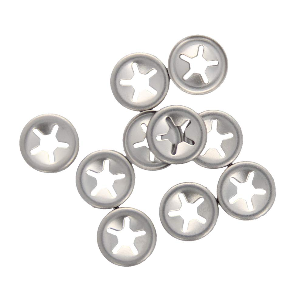 Othmro Starlock Washer 4mm I.D. 12mm O.D. Internal Tooth Lock Washers Push-On Locking Speed Clip 304 Stainless Steel 10pcs