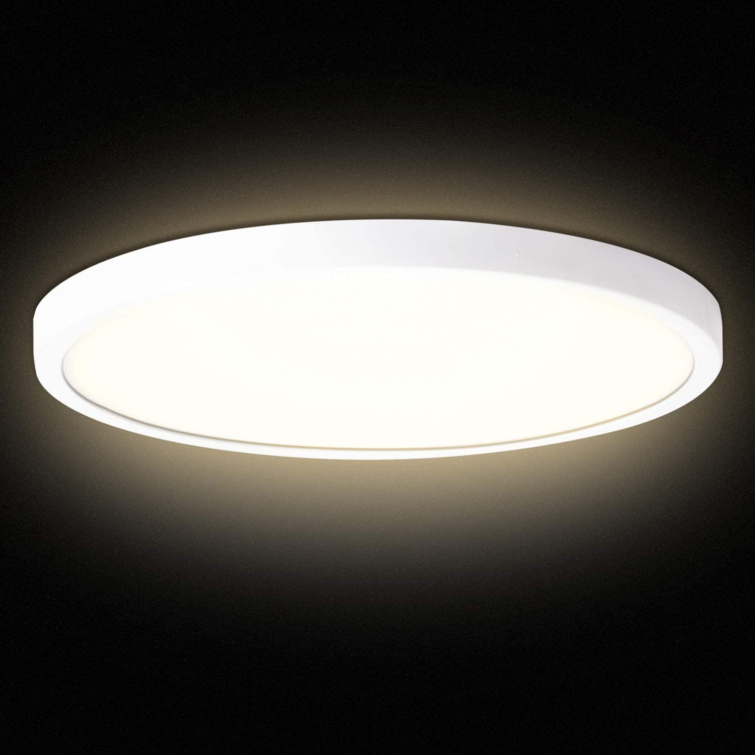 Combuh LED Flush Mount Ceiling Light Fixture 38W (200W Equivalent) 4000K Natural White 3420LM Modern Round 15.7 inch Ceiling Lamp for Kitchen, Bedroom, Living Room, Hallway, Stairwell