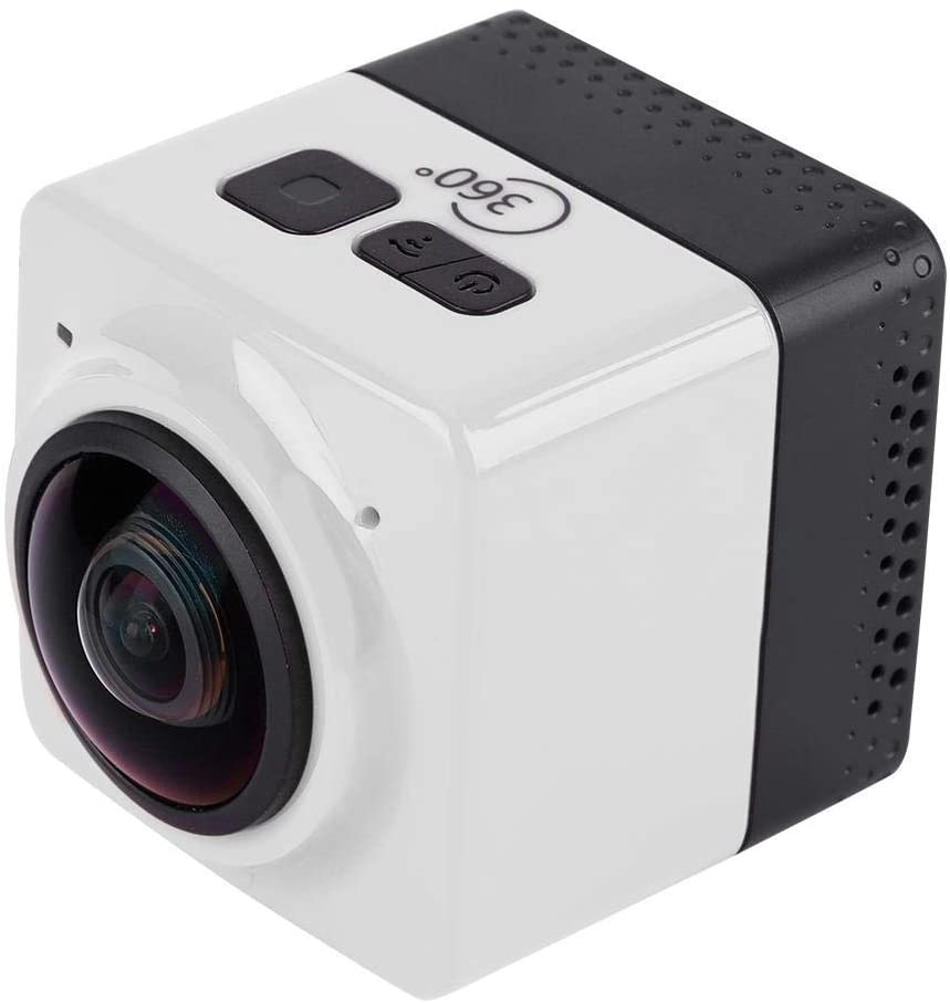 Vbestlife Mini Outdoor SLR Digital Camera, Portable WiFi HD,360° x 190° Large Panoramic Waterproof Photography Aerial Recorder Supporting 2 Devices Meanwhile. (White)