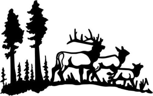Deer Buck Family Animal Wildlife Vinyl Graphic Car Truck Windows Decal Sticker - Die cut vinyl decal for windows, cars, trucks, tool boxes, laptops, MacBook - virtually any hard, smooth surface