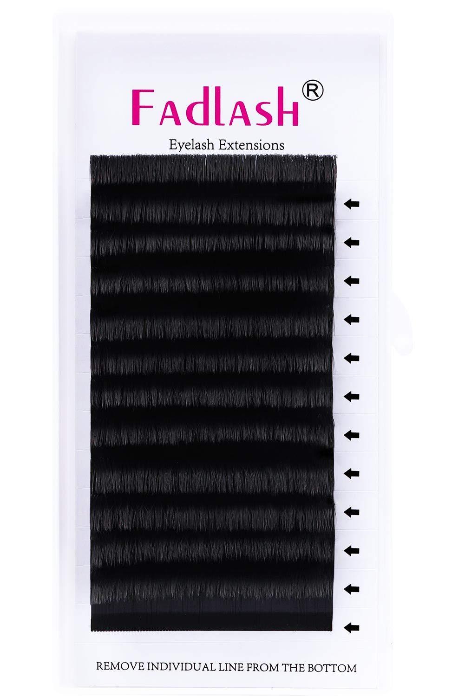 Volume Eyelash Extensions Easy Fans Volume Lashes FADLASH 0.05 0.07 2D-10D Rapid Blooming Lashes C/D Curl Fanning Lash Extensions Supplies(0.07-C, 20mm)