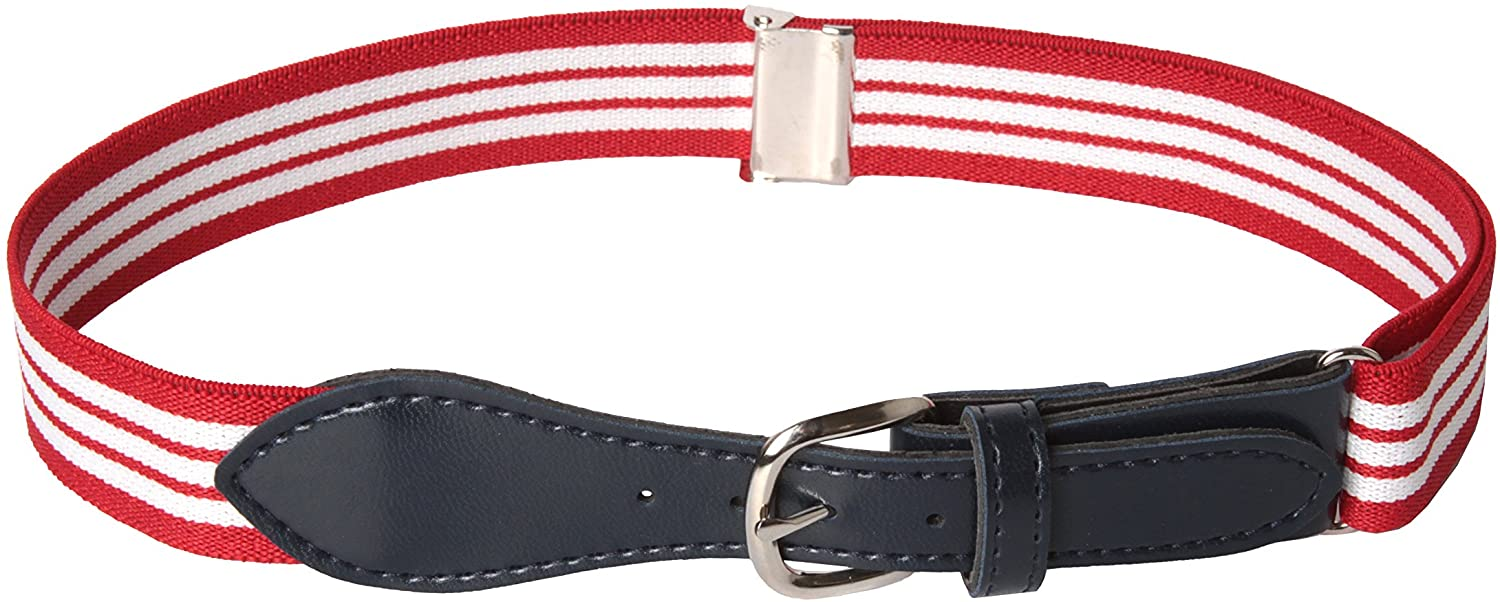 "HOLD'EM Kids Toddler Belt Leather Closure Elastic 1"" Wide Adjustable Strap"