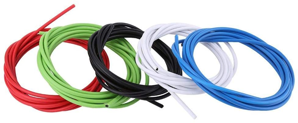 Vobor Bicycle Shifting Cable 4mm Bike Shifting Cable Wires, Derailleur Shifting Cable, Bicycle Brake Wires Compatible with Road M-T-B Bikes Replacemet Acessory Kit(Green)