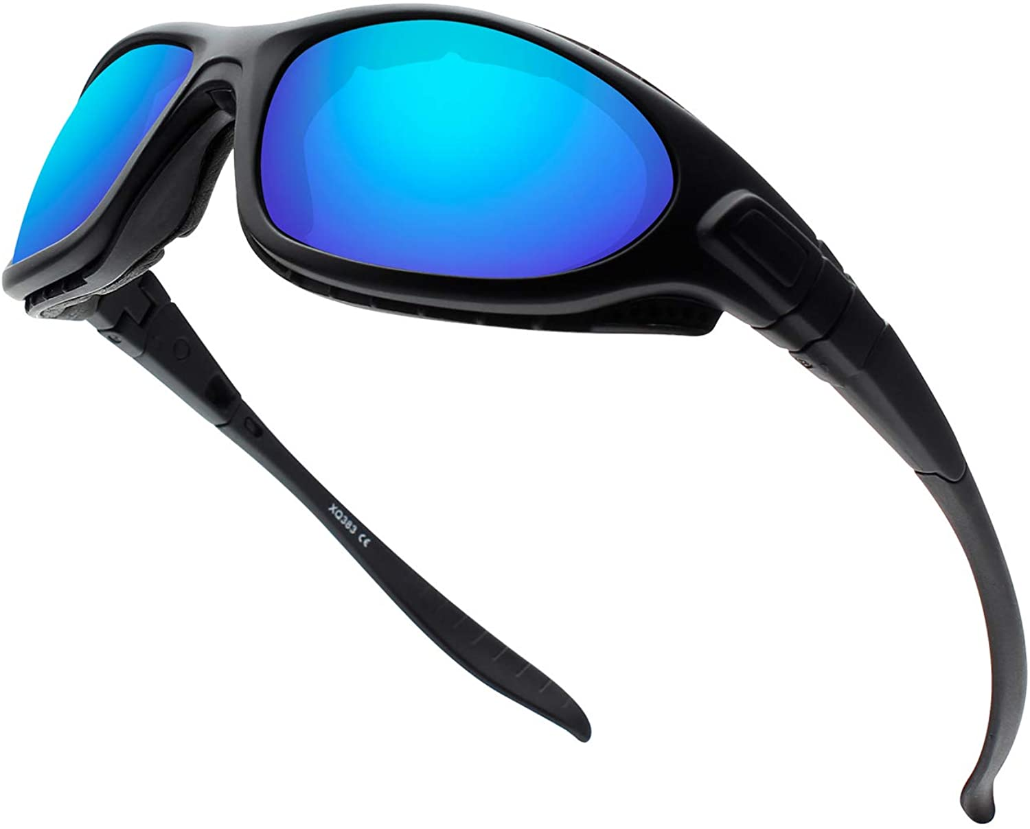 Polarized Sports Sunglasses Cycling Sunglasses With Foam Lining For Men Women TR90 Frame Running Driving Fishing