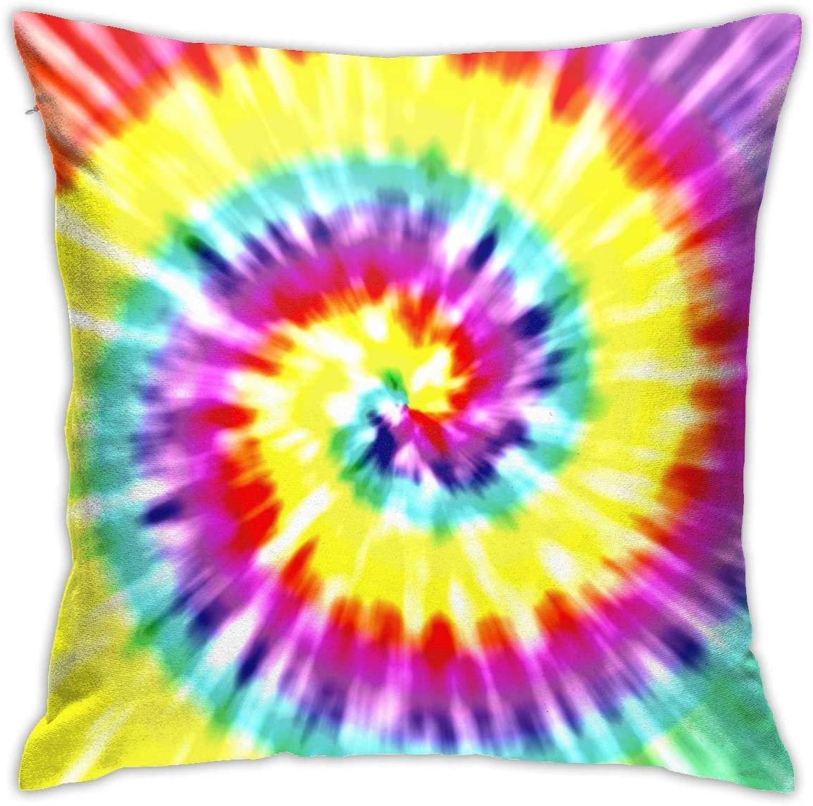 ULQUIEOR Unique Tye Dye Art Throw Pillow Covers Decorative Square Cushion Pillowcase for Sofa Home Bedroom Bed 18 x 18 Inch