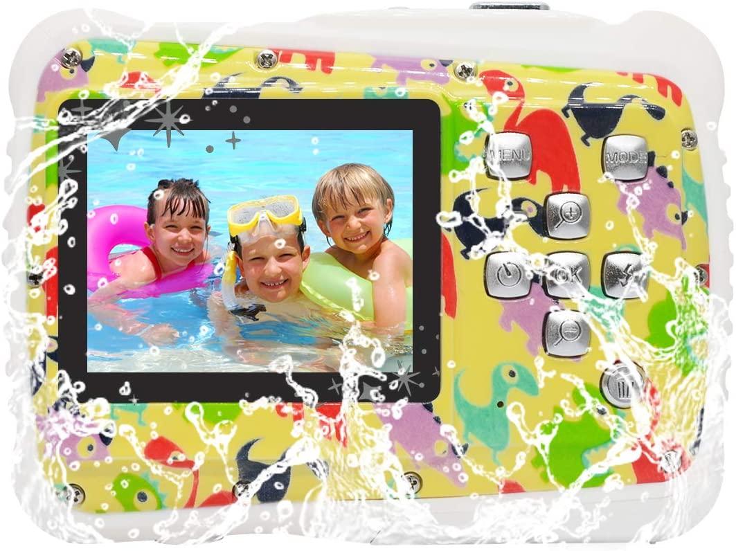 Vmotal Digital Camera, Waterproof Camera with 2.0 inch TFT Display 8MP Waterproof Digital Camera for Children Boys Girls Gift (DI)