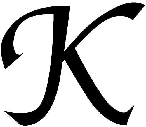 Letter K Style #03 Graphic Sticker - Black Sticker - Graphic Sticker Vinyl Car Home Truck Window Laptop