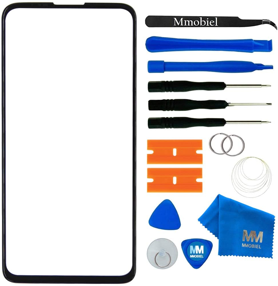 MMOBIEL Front Glass Repair kit Compatible with Motorola Moto G8 Power 6.4 inch 2019 (Black)