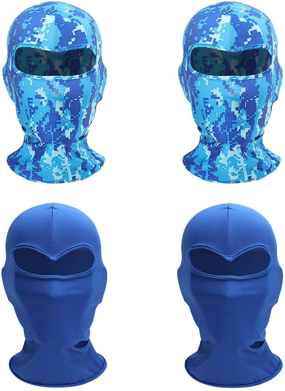 Chruikar 4 PCS Balaclava Tactical Fishing Face Mask Shield Neck Gaiter Washable Bandana UV Protection Scarf Cycling