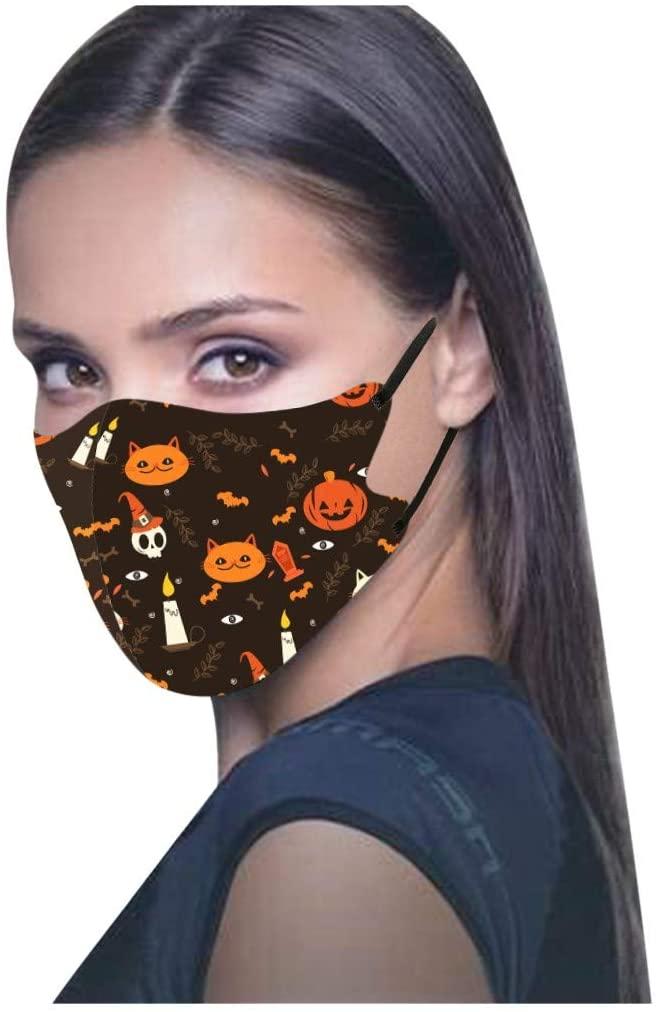 Ice Silk Printing Face Bandanas Breathable Adjustable Reusablr Cloth Halloween Scarf for Adult