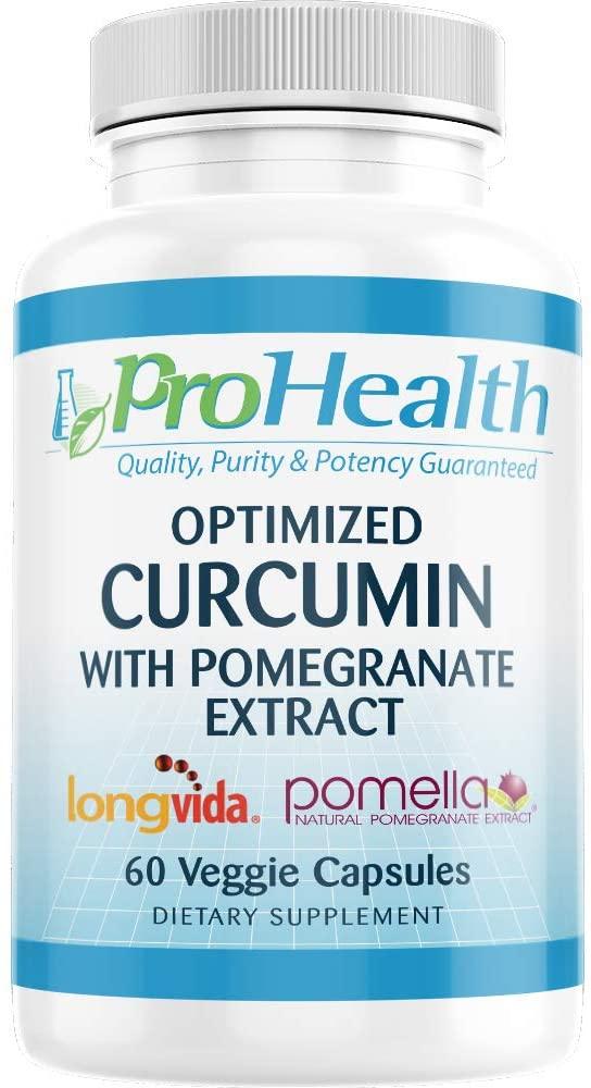 ProHealth Optimized Curcumin Longvida with Pomella Pomegranate Extract (60 Veggie Capsules)
