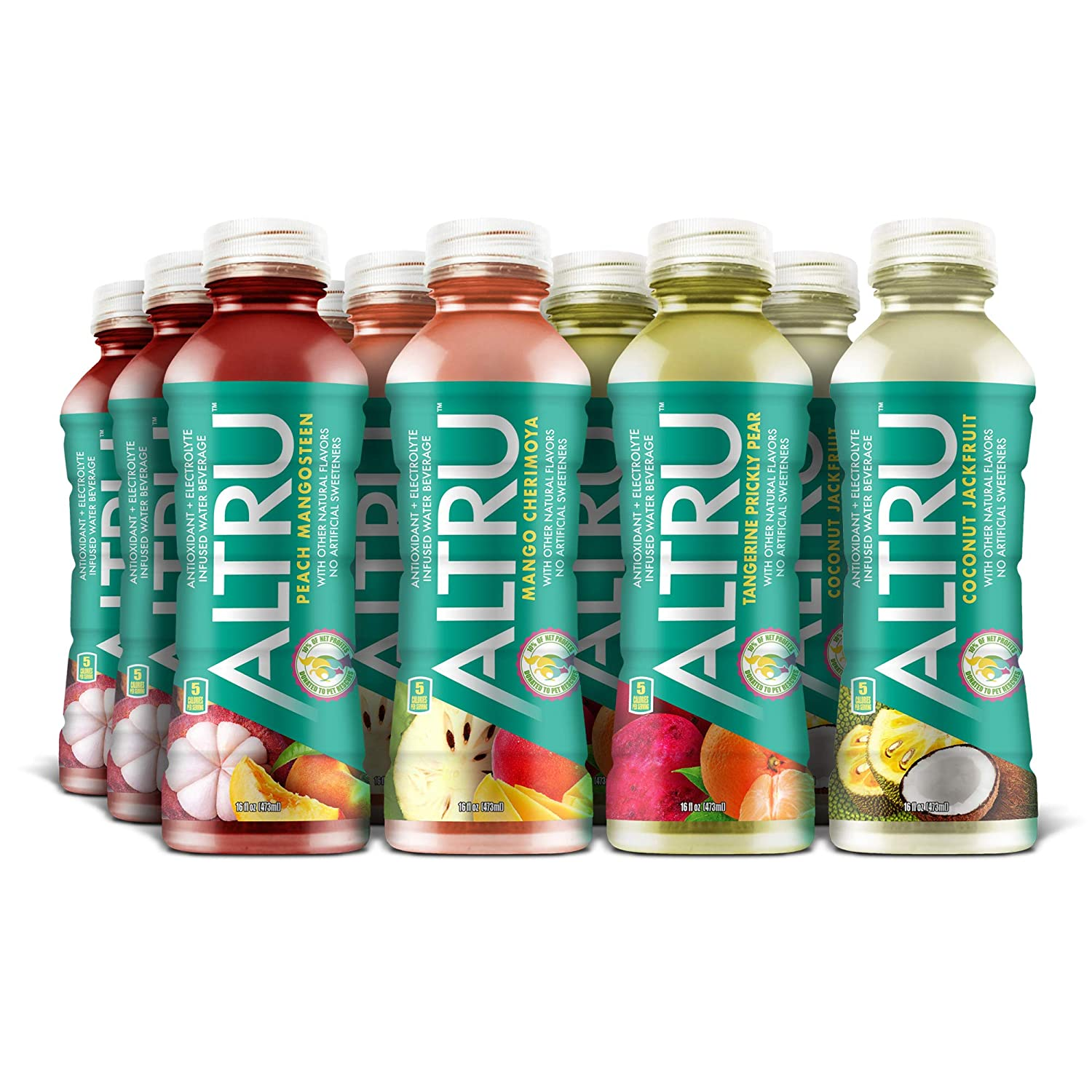 ALTRU - Exotic Fruit Flavored Water with Patent Pending Antioxidant & Electrolyte Blend - 12 pack (16 ounce bottles) KETO, Low Sugar (Variety Pack)