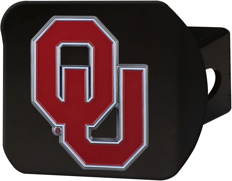 FANMATS NCAA Oklahoma Sooners University of Oklahomacolor Hitch - Black, Team Color, One Size