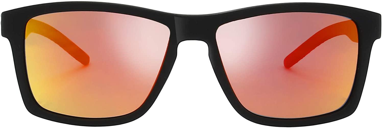 Polarized Rectangular Rubber Sunglasses for Driving Fishing Vintage Sun Glasses For Men Women - Exquisite Packaging