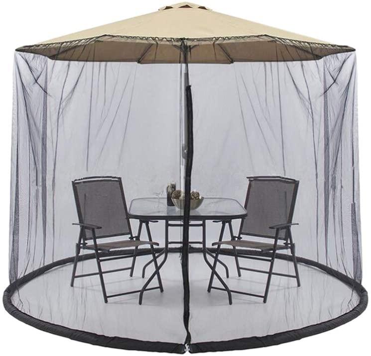 Yardwe Umbrella with Mosquito Netting Screen Table Screen for Outdoor Bar Garden